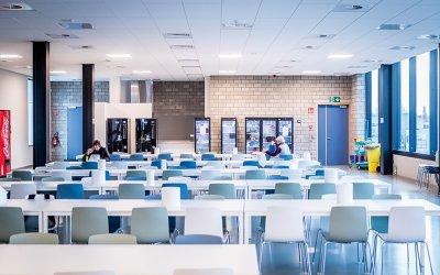 Beelden van de nieuwe personeelsruimte en boutzaal van Belki